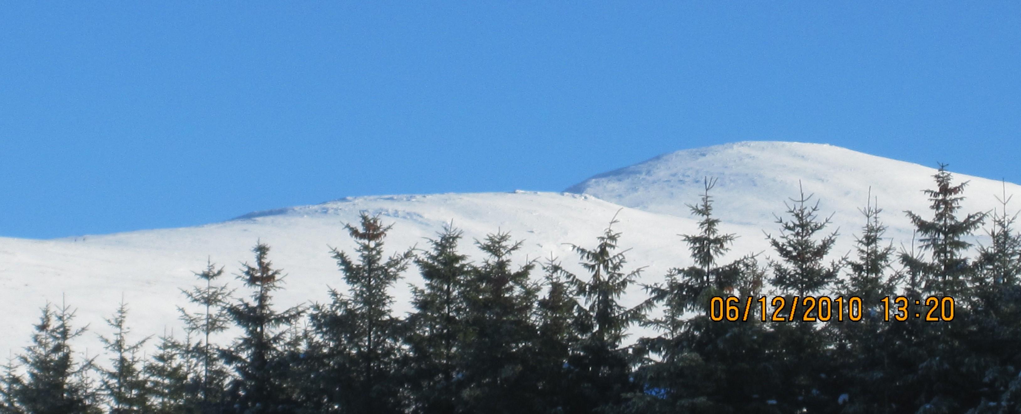 Winter scene in Glen of Imaal